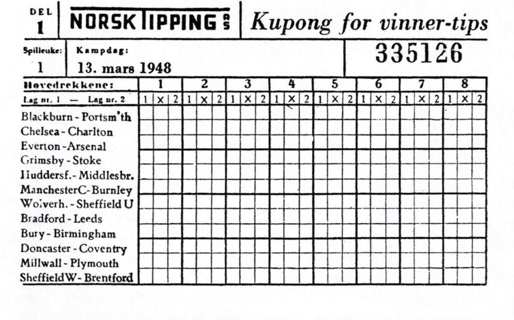 Historien om fotball tipping i Norge